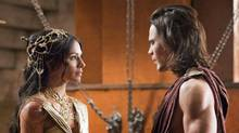 Lynn Collins and Taylor Kitsch in John Carter. (Frank Connor / Disney)