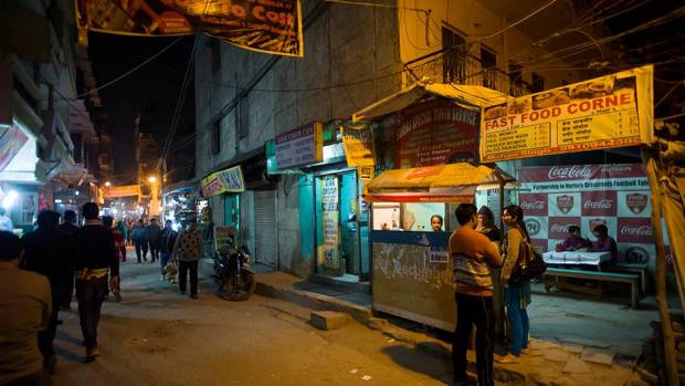General view of the Star Cyber cafe and Fast Food Corner in Lado Sarai frequented by boys from the Ummeed Aman Ghar home for boys in nearby Mehrauli, India, on Jan. 29, 2013. (Simon de Trey-White For The Globe and Mail)