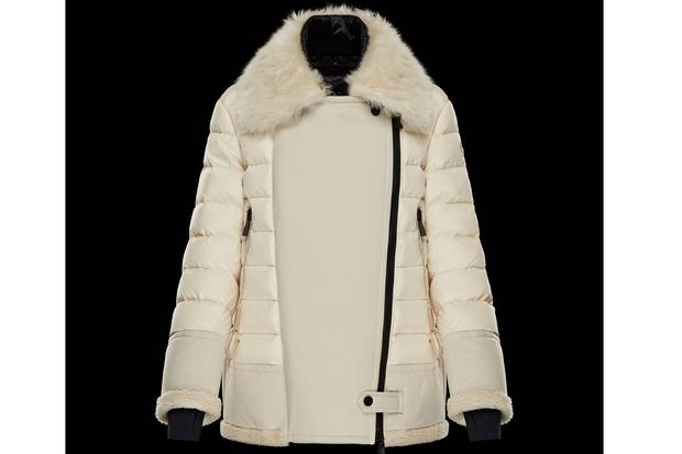 This quilted womens après-ski jacket from Moncler is made with fur and sheepskin. It retails for $4,445.