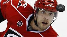 The Carolina Hurricanes have decided not to move Tuomo Ruutu ahead of this year's NHL trade deadline. (AP File Photo/Gerry Broome) (Gerry Broome/AP)