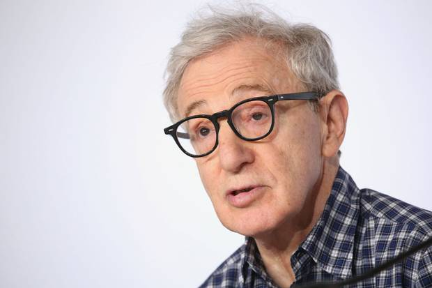 Director Woody Allen attends a press conference at the Cannes film festival in 2015.