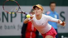 Eugenie Bouchard of Canada returns a forehand (STEPHANE MAHE/REUTERS)