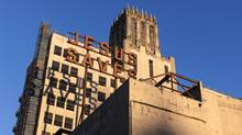The neon 'Jesus Saves' sign on the back of the Ace Hotel dates from its time as the home of Los Angeles University Cathedral. (Spencer Lowell/Ace Hotel)