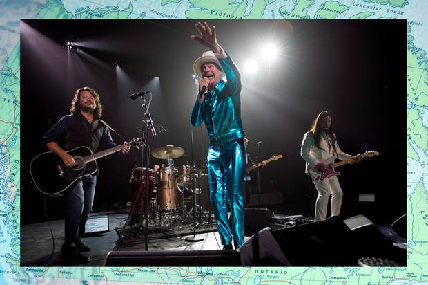 Gord Downie leads the Hip in Vancouver this past July.