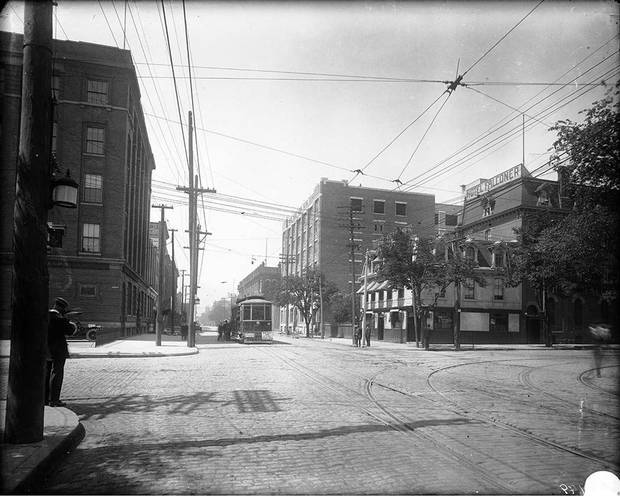 The intersection of King and Spadina, after 1900.