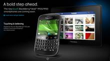 A screenshot of Research in Motion's webpage featuring the new BlackBerry Bold. (blackberry.com)