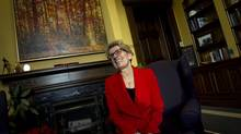 Ontario Premier Kathleen Wynne speaks in her Toronto office on Dec. 12, 2013. (PETER POWER/THE GLOBE AND MAIL)