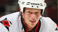 Eric Staal #12 of the Carolina Hurricanes. (Photo by Paul Bereswill/Getty Images) (Paul Bereswill/Getty Images)