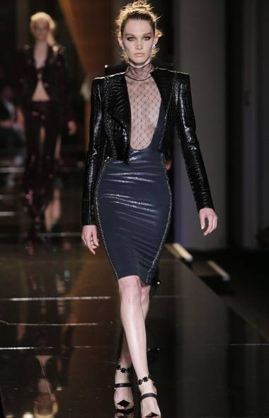 Atelier Versace kicked off the Haute Couture shows at Fashion Week on a sexy, self-confident note. (Jacques Brinon/AP)