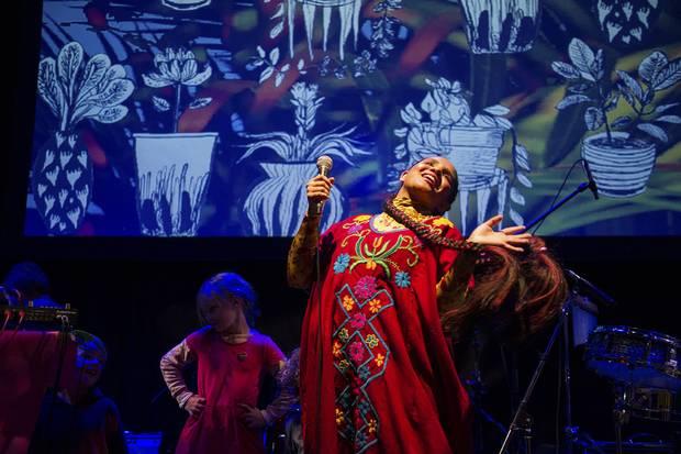 Pimienta on stage at Venus Fest.