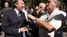 Coalition Avenir Québec Leader François Legault speaks with supporters in St. Bruno-de-Montarville on Wednesday. (Ryan Remiorz/THE CANADIAN PRESS)