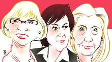 Beverley McLachlin, Christy Clark, Hillary Clinton: Age of the alpha women (Anthony Jenkins for The Globe and Mail)