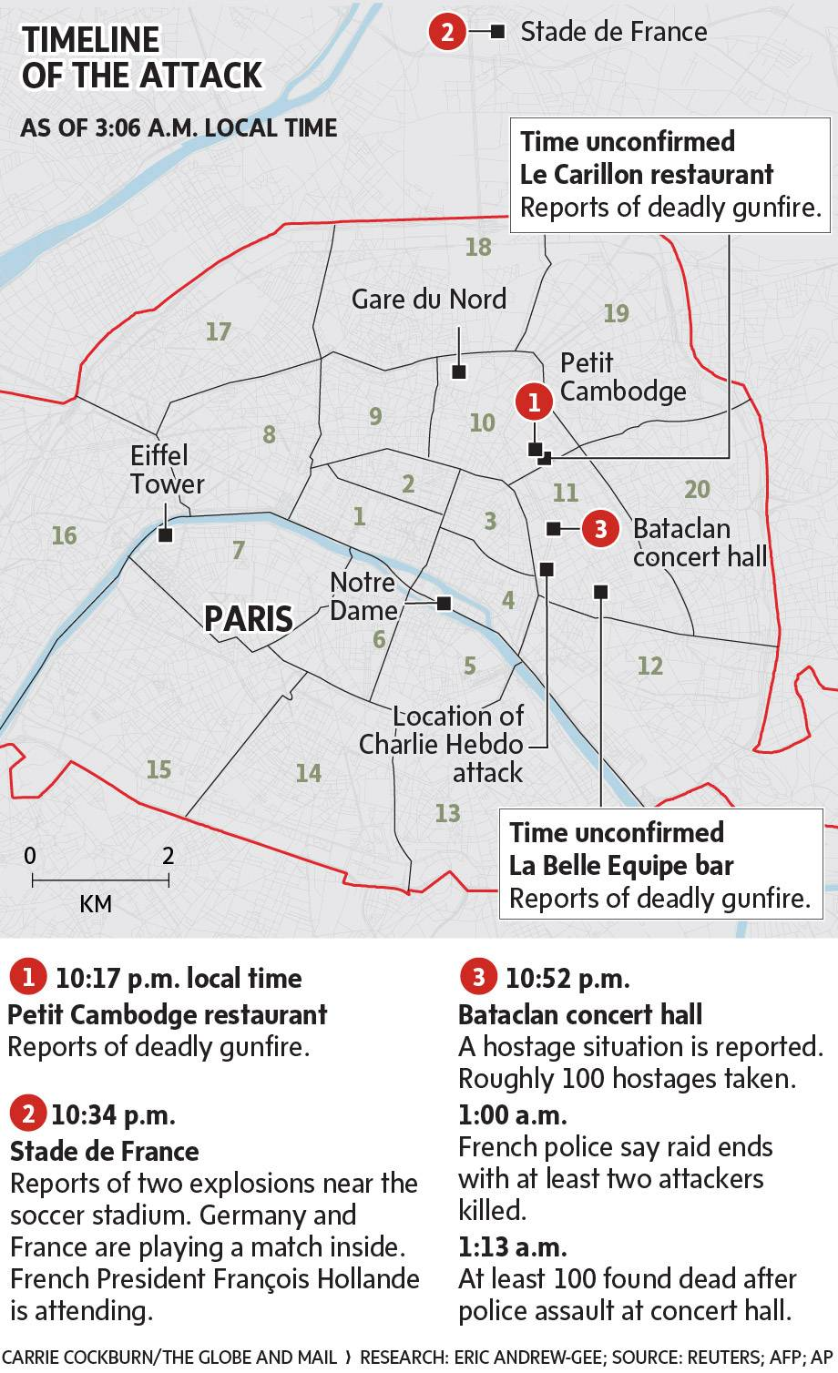 Bataclan Concert Hall Paris Map.Map Paris Attacks The Globe And Mail