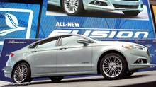 2013 Ford Fusion was launched at an event in Times Square in New York City last September. (Ford)