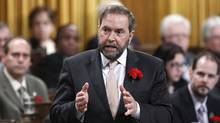 NDP Leader Thomas Mulcair speaks during Question Period in the House of Commons on Parliament Hill in Ottawa on May 9, 2012. (Chris Wattie/Reuters/Chris Wattie/Reuters)