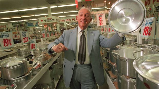Ed Mirvish is pictured at his store in 1999. When his store was in the full flush of its success, Mr. Mirvish received an offer to put an Honest Ed's in every Loblaws store across the country. On the prospect of business expansion, he said: 'I won't know any of my employees because it'll be too big. And I won't know my customers. … It doesn't sound like fun to me,' son David Mirvish recalls.
