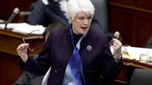 Education Minister Liz Sandals speaks during question period at Queen's Park in Toronto on March 4, 2013. (Peter Power/The Globe and Mail)