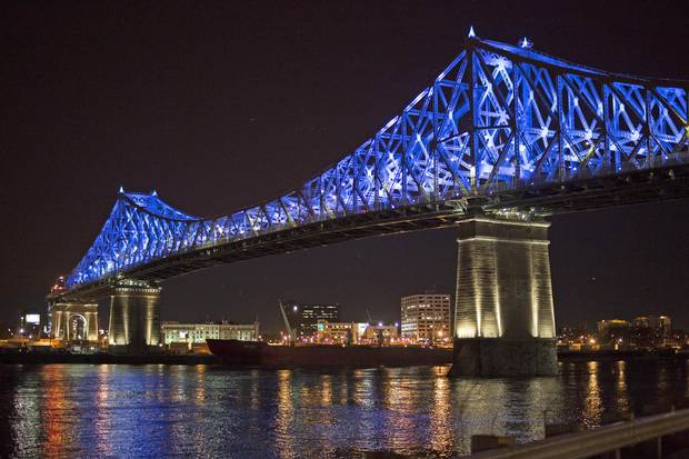 Living Connections is an interactive lighting display on Montreal's Jacques Cartier Bridge. The $39.5-million project is 'connected in real-time to big data and social-media networks.'