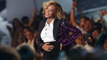 "Beyonce, who announced her pregnancy earlier in the day, rubs her stomach after performing ""Love On Top"" at the 2011 MTV Video Music Awards in Los Angeles, August 28, 2011. (MARIO ANZUONI / REUTERS/MARIO ANZUONI / REUTERS)"