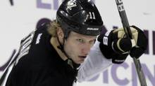 Pittsburgh Penguins' Jordan Staal (11) celebrates his short-handed goal against the Tampa Bay Lightning during the first period of an NHL hockey game in Pittsburgh Saturday, Feb. 25, 2012. (AP Photo/Gene J. Puskar) (Gene J. Puskar)