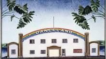 Rainbow Danceland, 1979, acrylic, glitter on canvas. Collection of Glenbow Museum, Calgary, Canada. (David Thauberger)