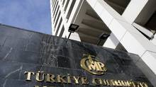 Turkey's central bank headquarters is seen in Ankara. (Umit Bektas/Reuters)