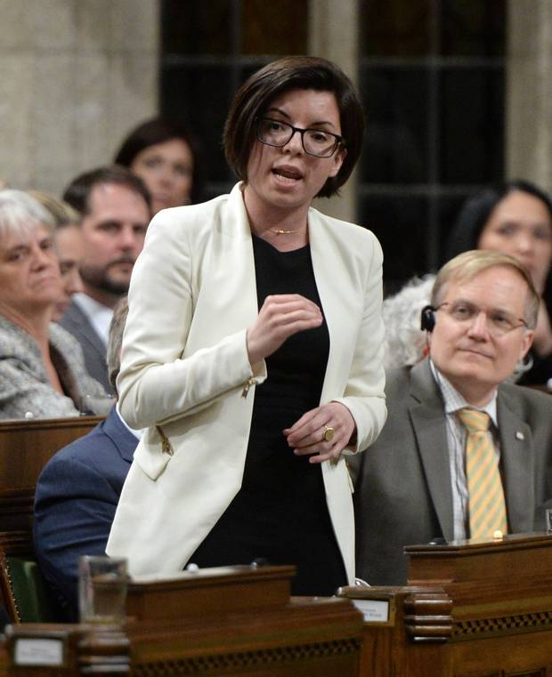 NDP MP Niki Ashton asks a question in the House on May 16, 2016.
