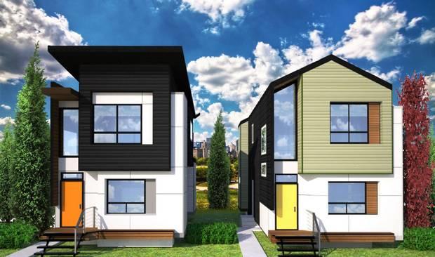 Skinny housed designed by Adam Tassone in the northwest Edmonton community of Prince Charles.