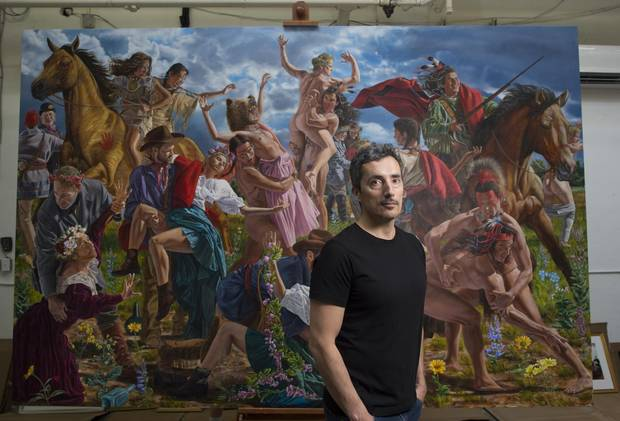 Cree artist Kent Monkman, seen in his Toronto studio, will be the grand marshal at this year's Toronto Pride parade.