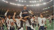 The ferocious 1985 Bears squad was coached by the legendary Mike Ditka, who was said to possess the face of a bear himself. (PHIL SANDLIN/AP)