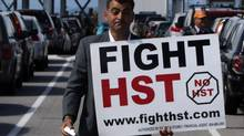 Local anti-HST organizer Eddie Petrossian in Tsawwassen, B.C., on Wednesday June 30, 2010. (Darryl Dyck/ The Canadian Press/Darryl Dyck/ The Canadian Press)