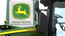John Deere farming equipment at a dealership in Petersburg, Ill. on Sunday, June 8, 2014. (SETH PERLMAN/THE ASSOCIATED PRESS)