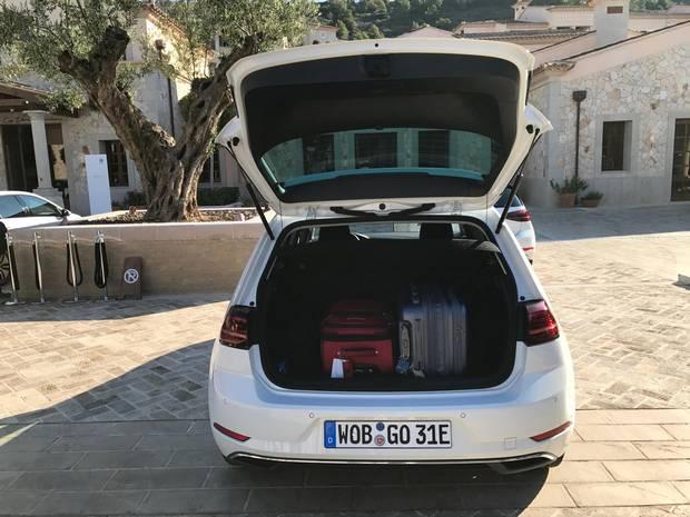 2017 VW eGolf rear hatch.