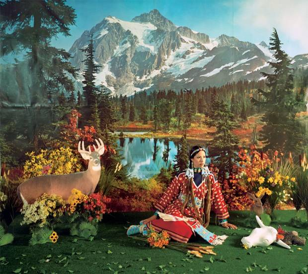 "Wendy Red Star (born in 1981), Indian Summer, from the series ""Four Seasons,"", 2006, chromogenic print., Collection of Brian Tschumper."