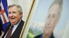 Former Alberta premier Ralph Klein, at the unveiling of his official portrait at the Alberta Legislature Rotunda in Edmonton, Alta. on Thursday, August 30, 2007. (John Ulan/John Ulan/The Canadian Press)