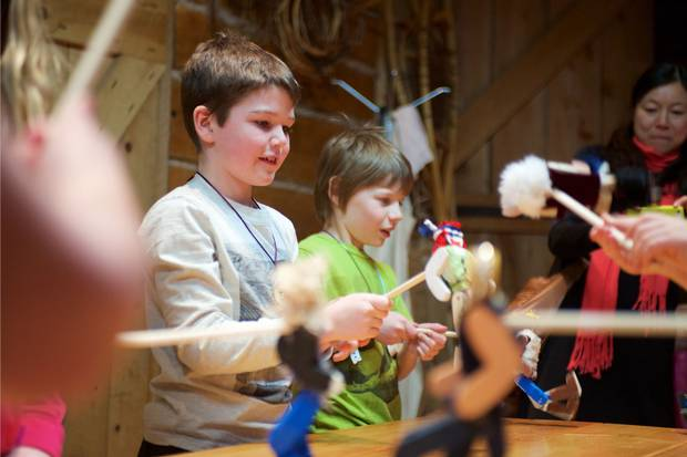 Children at a March Break activity at the museum.