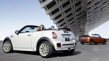 Mini Cabriolet - although the hardtop Mini is stylishly metrosexual, the convertible version takes you deep into Chick Car Country. (BMW)