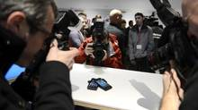 Any restrictions on foreign bidding for the Blackberry's patents could only decrease the winning bid price and punish investors. (Fred Lum/The Globe and Mail)