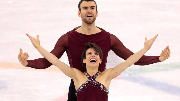Meagan Duhamel and Eric Radford of Canada compete during the Pair Skating Free Skating at Gangneung Ice Arena on February 15, 2018 in Gangneung, South Korea.