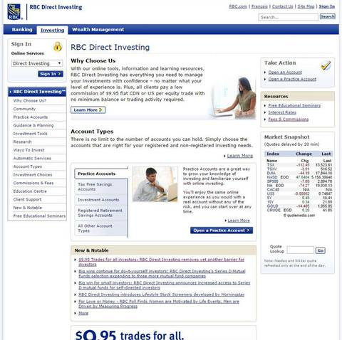 The globe and mails 17th annual online broker ranking the globe the homepage for rbc direct investings public website is old school o l d school solutioingenieria Images