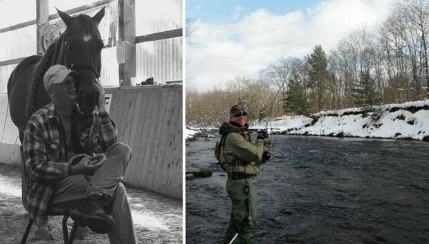 Mr. Martin joined a few programs to help him with his PTSD, including an equine therapy program, and a support group that teaches wounded veterans to fly fish.