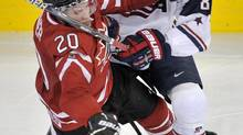 U.S. defenceman Jacob Trouba is one of the team's few returnees in 2013. (Nathan Denette/THE CANADIAN PRESS)