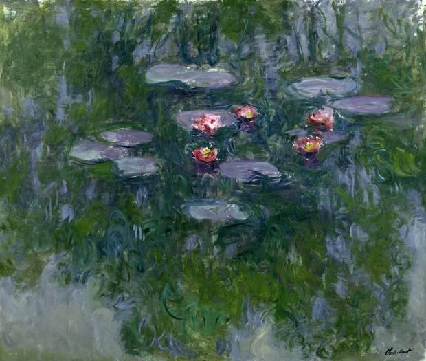 Claude Monet Nymphéas, 1916–19 oil on canvas