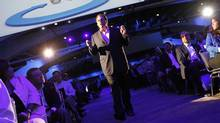 Salesforce CEO Marc Benioff walks among attendees as he delivers his keynote address at the Dreamforce event in San Francisco on Aug. 31, 2011. (ROBERT GALBRAITH/ROBERT GALBRAITH/REUTERS)