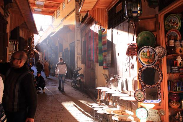 Fes, Morocco - MAR 08th, 2017: Morocco Medina