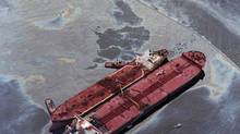 The Exxon Valdez disaster in the waters of Alaska's Prince William Sound was one of history's worst oil spills, shown here in this 1989 photo. (Rob Stapleton/AP)