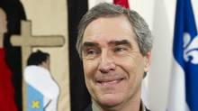 Liberal Leader Michael Ignatieff listens to a question during a news conference at a Native Friendship Centre Friday, April 29, 2011, in Val d'Or, Que. (Paul Chiasson/THE CANADIAN PRESS)