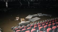 Flood damage seen from inside the Scotiabank Saddledome. (Handout/Calgary Flames)