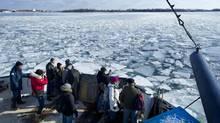 A winter ferry ride to Ward's Island will take 20 minutes, about three times the length of time in the summer. (Kevin Van Paassen/The Globe and Mail)