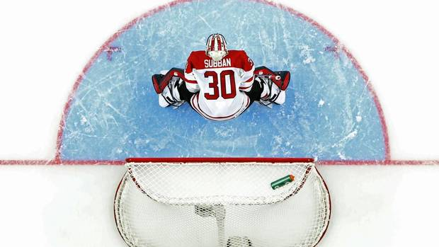 Canada's goalie Malcolm Subban stands in front of the net against Germany in the second period of their preliminary round game during the 2013 IIHF U20 World Junior Hockey Championship in Ufa December 26, 2012. (MARK BLINCH/REUTERS)